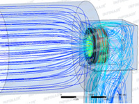 CFD flow field trace of a certain new box-type centrifugal fan of INFINAIR